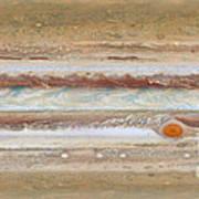Flat Map Of Jupiter Art Print