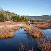 Flat Mountain Ponds - Sandwich Wilderness White Mountains Nh Art Print