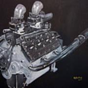 Flathead Offenhauser V8 Art Print