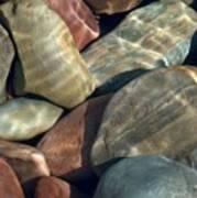 Flathead River Rocks Art Print