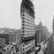 Flatiron Building During Construction Art Print