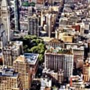 Flatiron Building From Above - New York City Art Print