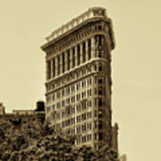 Flatiron Building In Sepia Art Print