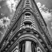 Flatiron Building  Nyc Black And White Art Print
