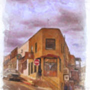 Flatiron Building Of Jerome Arizona Art Print