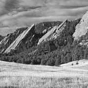 Flatiron Morning Light Boulder Colorado Bw Art Print