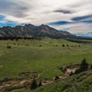 Flatirons From South Trails Art Print