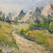 Flatirons In The Rockies Art Print