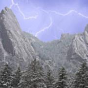 Flatirons Lightning Art Print