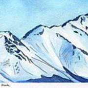Flattop Through Ptarmigan Peak, Alaska Art Print