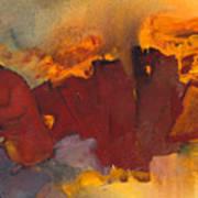 Fleeing The Inferno Art Print