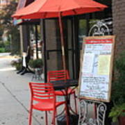 Flemington, Nj - Sidewalk Cafe Art Print