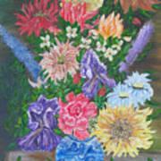 Flemish Floral Art Print
