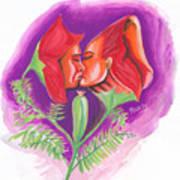 Fleur D'amour Art Print