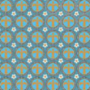Fleur De Lis Pattern No. 2 Art Print