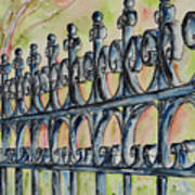 Fleur De Lisrod Iron Fence Art Print
