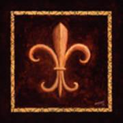 Fleur De Lys-king Louis Vii Art Print