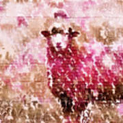 Fleur De Sheep Art Print