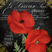 Fleur Du Jour Poppy Art Print