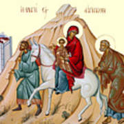 Flight Into Egypt Painting At Shepherds Field Art Print