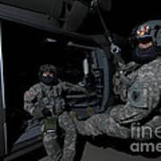 Flight Medics Practice With The Uh-60 Art Print