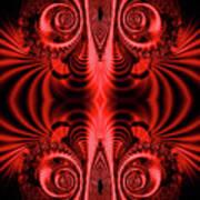 Flight Of Fancy Red Art Print