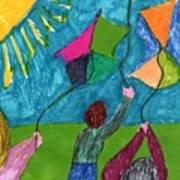 Flight Of Kites Art Print