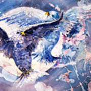 Flight Of The Doves Art Print