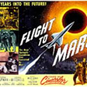 Flight To Mars, 1951 Art Print by Everett