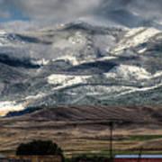 Flint Ridge Range, Deer Lodge, Mt Art Print