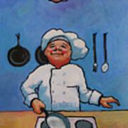 Flipping Pancakes Art Print