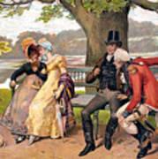 Flirtation, C1810 Art Print