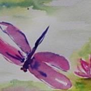 Float Like A Dragonfly Art Print