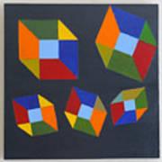 Floating Cubes 2 Art Print