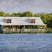 Floating House In La Parguera Puerto Rico Art Print
