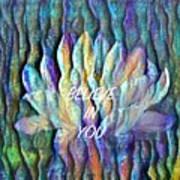 Floating Lotus - I Believe In You Art Print