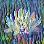 Floating Lotus - Peace In Our Lifetime Art Print