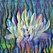 Floating Lotus - Praying For You Art Print