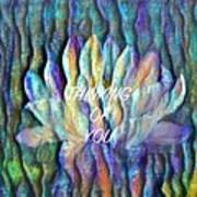 Floating Lotus - Thinking Of You Art Print