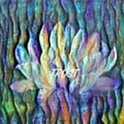 Floating Lotus - Trust Art Print