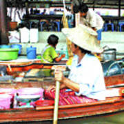 Floating Market Thailand Art Print