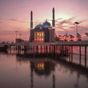 Floating Mosque Art Print