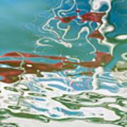 Floating On Blue 35 Art Print