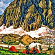 Floe Lake Painted Art Print