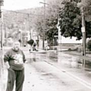 Flooded Streets Of Despair Art Print