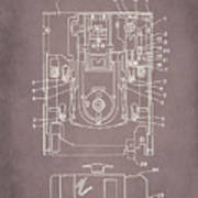 Floppy Disk Assembly Patent Drawing 1a Art Print