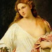 Flora Art Print by Titian