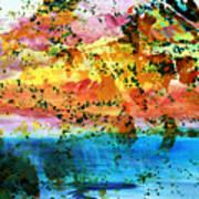 Rustic Landscape Abstract  D2131716 Art Print
