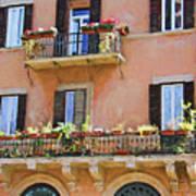 Floral Balcony Art Print