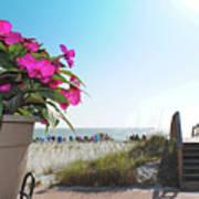 Floral Beach Art Print